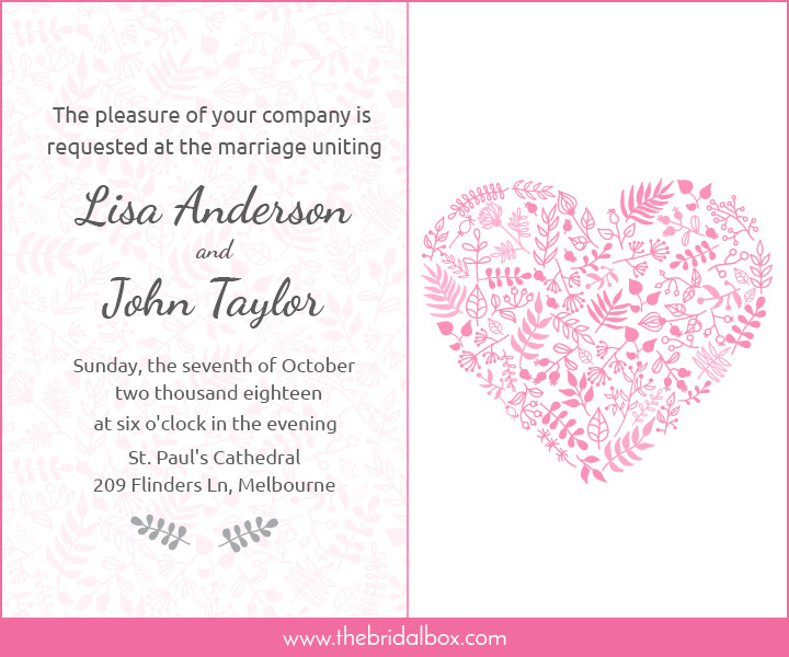 Wedding Invitation Wording 5