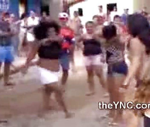 Brazilian Girls Get Sweaty Dirty And Half Naked In Street Fight Theync