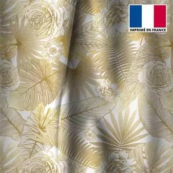 tissu occultant ecru jungle et rose degrade jaune or tissu occultant ecru jungle et rose degrade jaune or