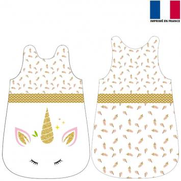coupon velours d habillement pour gigoteuse motif licorne gold coupon velours d habillement pour gigoteuse motif licorne gold