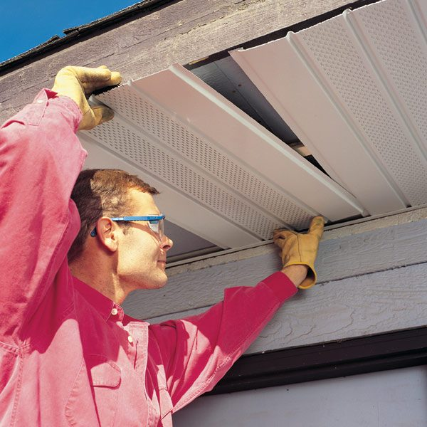 Installing Vinyl Soffit Porch Ceiling