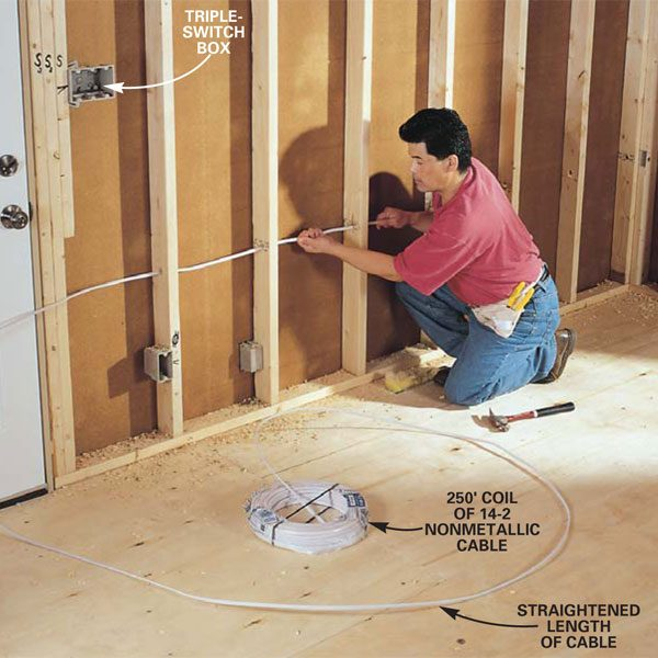 bedroom electrical wiring diagram car turning radius how to rough-in | the family handyman