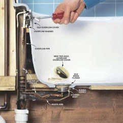Bathroom Plumbing Vent Stack Diagram 1983 Chevy Silverado Wiring How To Convert Bathtub Drain Lever A Lift And Turn | The Family Handyman