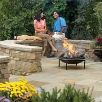 Build a Flagstone and Stone Block Patio | The Family Handyman