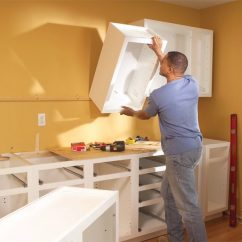 Hanging Kitchen Cabinets Outdoor Creations Installing The Family Handyman