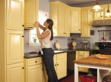 How to Spray Paint Kitchen Cabinets | The Family Handyman