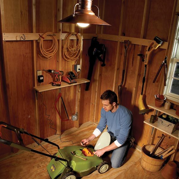shed consumer unit wiring diagram lovely hid card reader electrical how to run power anywhere the family handyman