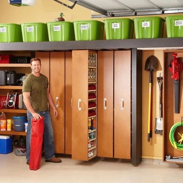 Knee Wall Storage Ideas