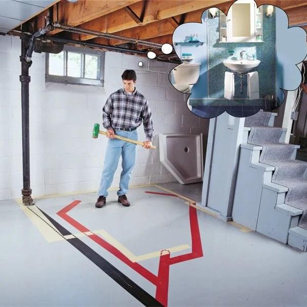Guide To Plumbing Of Basement Bathroom Design Decoratingfreehqcom