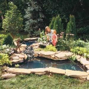 build water garden stream