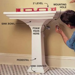 Sink Pipe Diagram Leviton Cat5e Jack Wiring How To Plumb A Pedestal | The Family Handyman