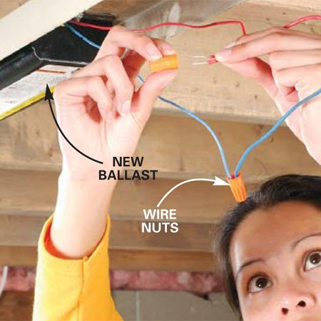 2 Fluorescent Light Wiring Diagram How To Replace A Fluorescent Light Ballast The Family