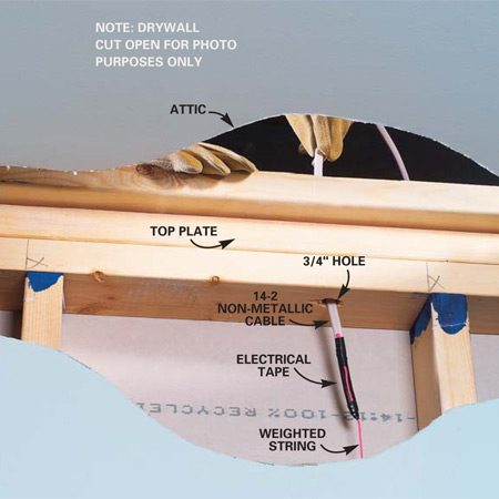 How To Fish Electrical Wire Through Ceiling Joists | www.lightneasy.net