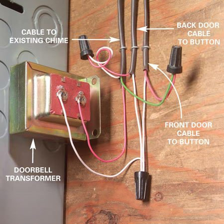 step down transformer diagram air ride suspension wiring adding a second doorbell chime | the family handyman