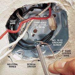 Electric Garage Door Opener Wiring Diagram Baldor Motor How To Hang A Ceiling Light Fixture | The Family Handyman