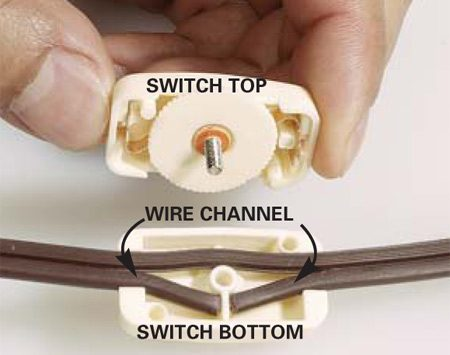 American 3 Wire Plug Wiring Diagram How To Install An In Line Cord Switch The Family Handyman