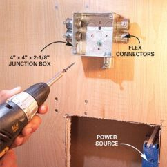 Wiring Diagram For Led Downlights Haulmark Trailer How To Install Under Cabinet Lighting In Your Kitchen | The Family Handyman