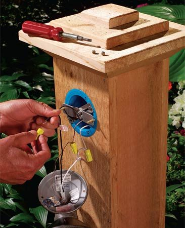 110 Receptacle Wiring Diagram How To Install Outdoor Lighting And Outlet The Family