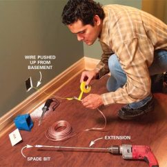 Basement Wiring Diagram Activity On Arrow Network How To Hide Speaker And Low Voltage Wire The Family Handyman Fish In Walls