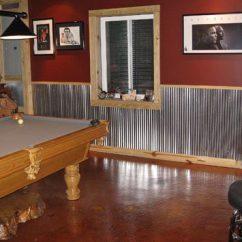 Corrugated Steel Chair Rail Walmart Bean Bag Chairs Man Cave Ideas The Family Handyman Sports Bar
