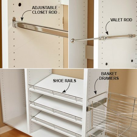 diy kitchen pantry cabinet plans island table build your own melamine closet organizer | the family handyman