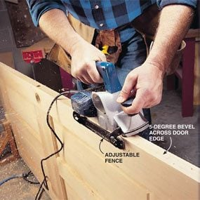 How To Use An Electric Planer On A Door