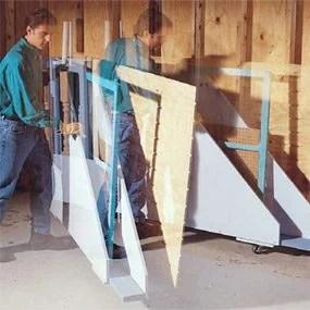 garage storage projects plywood rack diy