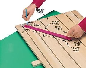 how to build an adirondack chair hip high the family handyman photo 3 cut curved top