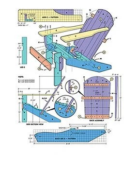 how to build an adirondack chair metal folding chairs the family handyman figure a has scale drawings explaining