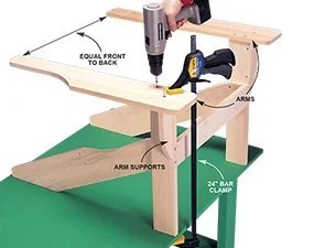 how to build an adirondack chair covers limerick the family handyman photo 6 add arm supports