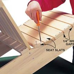How To Build An Adirondack Chair Rebar Chairs Lowes The Family Handyman Photo 8 Add Seat Slats