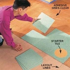 how to lay a vinyl tile floor diy