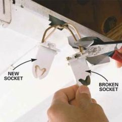 Fluorescent Light Holder Honeywell Frost And Pipe Stat Wiring Diagram How To Replace A Bulb The Family Handyman Photo 3 Remove Socket