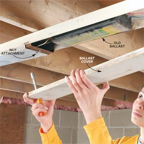 Electrical Ballast Wiring Diagram How To Replace A Fluorescent Light Ballast The Family