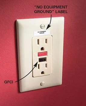 Gfci Protected Outlet Sticker : protected, outlet, sticker, Protected, Outlet, Equipment, Ground, Stickers, Electrical, Plugs, Supplies