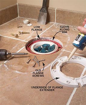 How To Fix A Toilet Flange That Is Too High