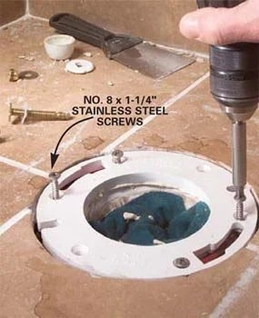 Toilet Flange Not Level Causing Leak