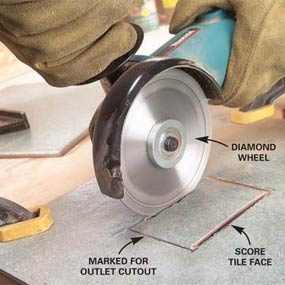 Angle Grinder To Cut Concrete Block