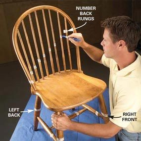 fixing wooden chairs swing chair decor fix a wobbly reglue the family handyman photo 1 label parts