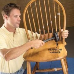 Fixing Wooden Chairs Humanscale Smart Chair Fix A Wobbly Reglue The Family Handyman Photo 2 Disassemble Back