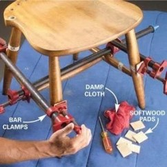 Fixing Wooden Chairs Round Fold Up Chair Fix A Wobbly Reglue The Family Handyman Photo 8 Clamp Legs And Seat