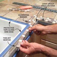 Installing Tile Countertops   The Family Handyman