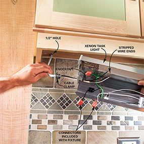 How To Install Under Cabinet Lighting In Your Kitchen The Family