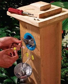 Gfci Outlet Installation Diagram How To Install Outdoor Lighting And Outlet Family Handyman