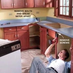 Pictures Of Laminate Kitchen Countertops Designs On A Budget Install Countertop The Family Handyman Photo 1 Remove Sink
