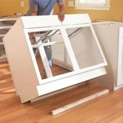 Kitchen Cabinets Set Samsung Appliance Package How To Install The Family Handyman Photo 11 Cabinet