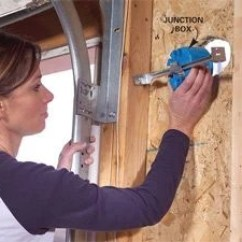 Wiring Diagram For House Lights Stick Welder Circuit Installing A Remote Motion Detector Lighting The Family Handyman Photo 2 Fasten Junction Boxes In Place