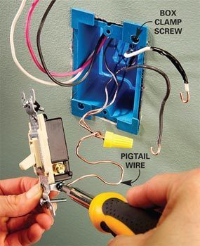 3 way electric john deere solenoid wiring diagram how to install a switch the family handyman photo 4 attach wires