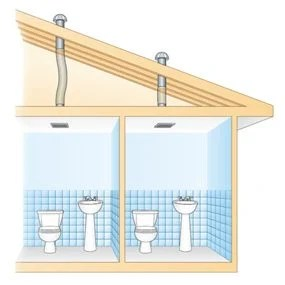 Use an InLine Fan to Vent Two Bathrooms  The Family Handyman