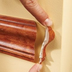 Chair Rail End Cap Queen Anne Recliner How To Install A Molding The Family Handyman Glue Return In Place